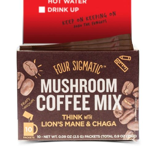 Four Sigmatic, Mushroom Coffee Mix, Think With Lion's Mane & Chaga