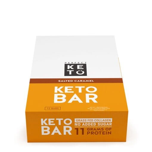Perfect Keto Salted Caramel Bar 12 Bars