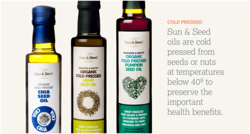 cold pressed oils chia pumpkin hemp seed oils