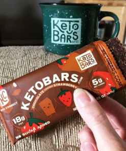 strawberry chocolate keto bar